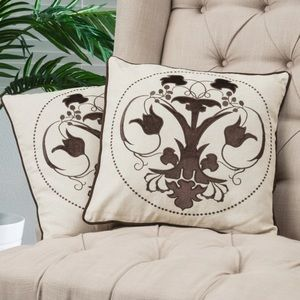 Christopher Knight Home Embroidered Pillowcases